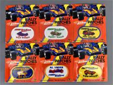 Group of six Topper Johnny Lightning original patches