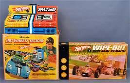 Group of three Mattel Hot Wheels Redline era Items