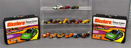 Group of fifteen Mattel Hot Wheels Sizzlers plus two