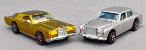 Group of two Mattel Hot Wheels Redlines