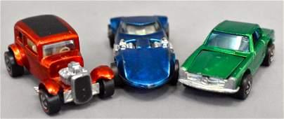 Group of three Mattel Hot Wheels Redline cars