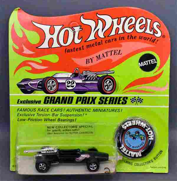Mattel Hot Wheels Redline Enamel Green Brabham Repco