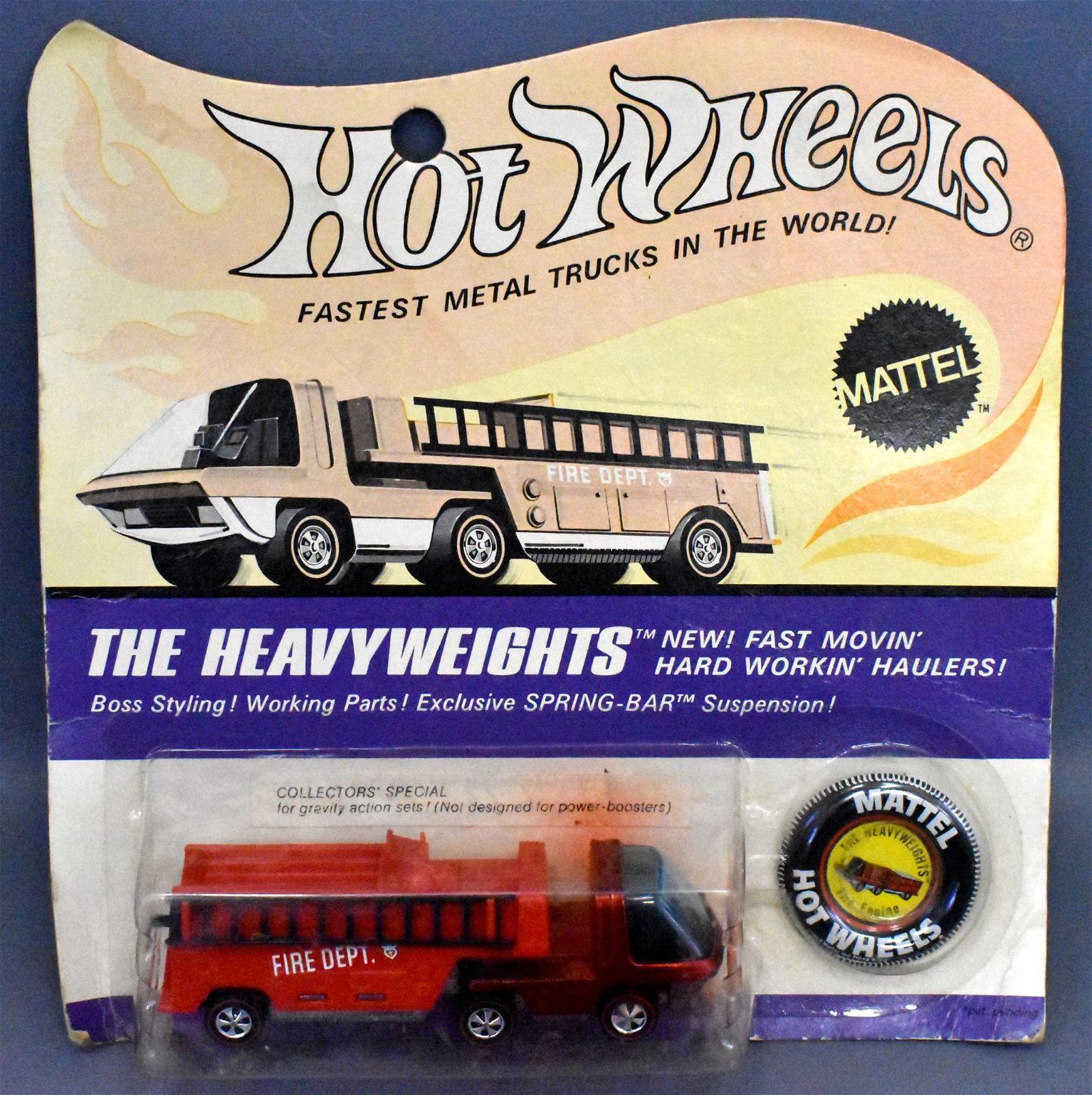 Redline Hot Wheels Heavyweights Fire Engine on sealed
