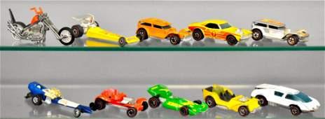 Group of ten Mattel Hot Wheels Redlines loose