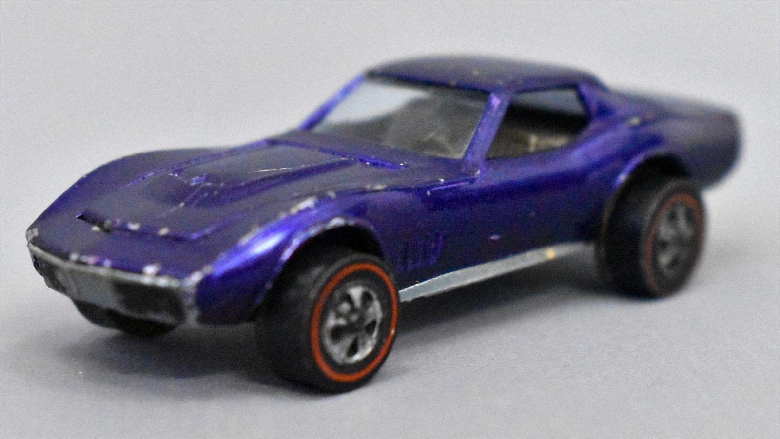Mattel Redline Hot Wheels US Purple Custom Corvette