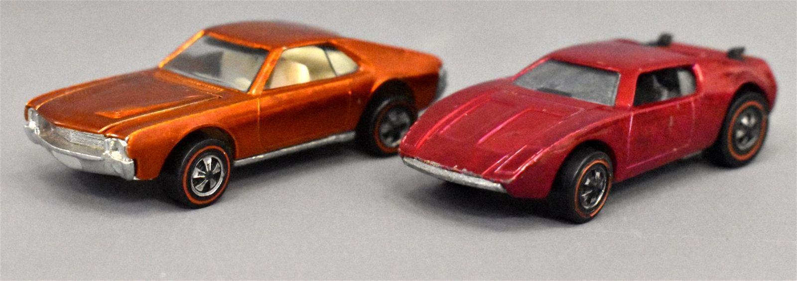 Group of two Mattel Redline Hot Wheels Rose AMX II &