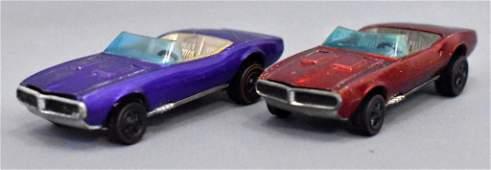 Group of two Mattel Redline Hot Wheels HK Custom