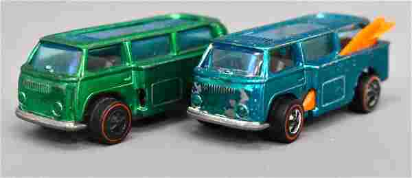 Group of two Mattel Redline Hot Wheels Beach Bombs