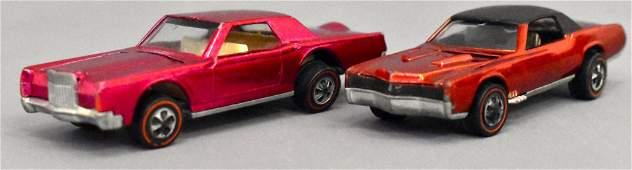 Group of two Mattel Redline Hot Wheels Eldorado Custom