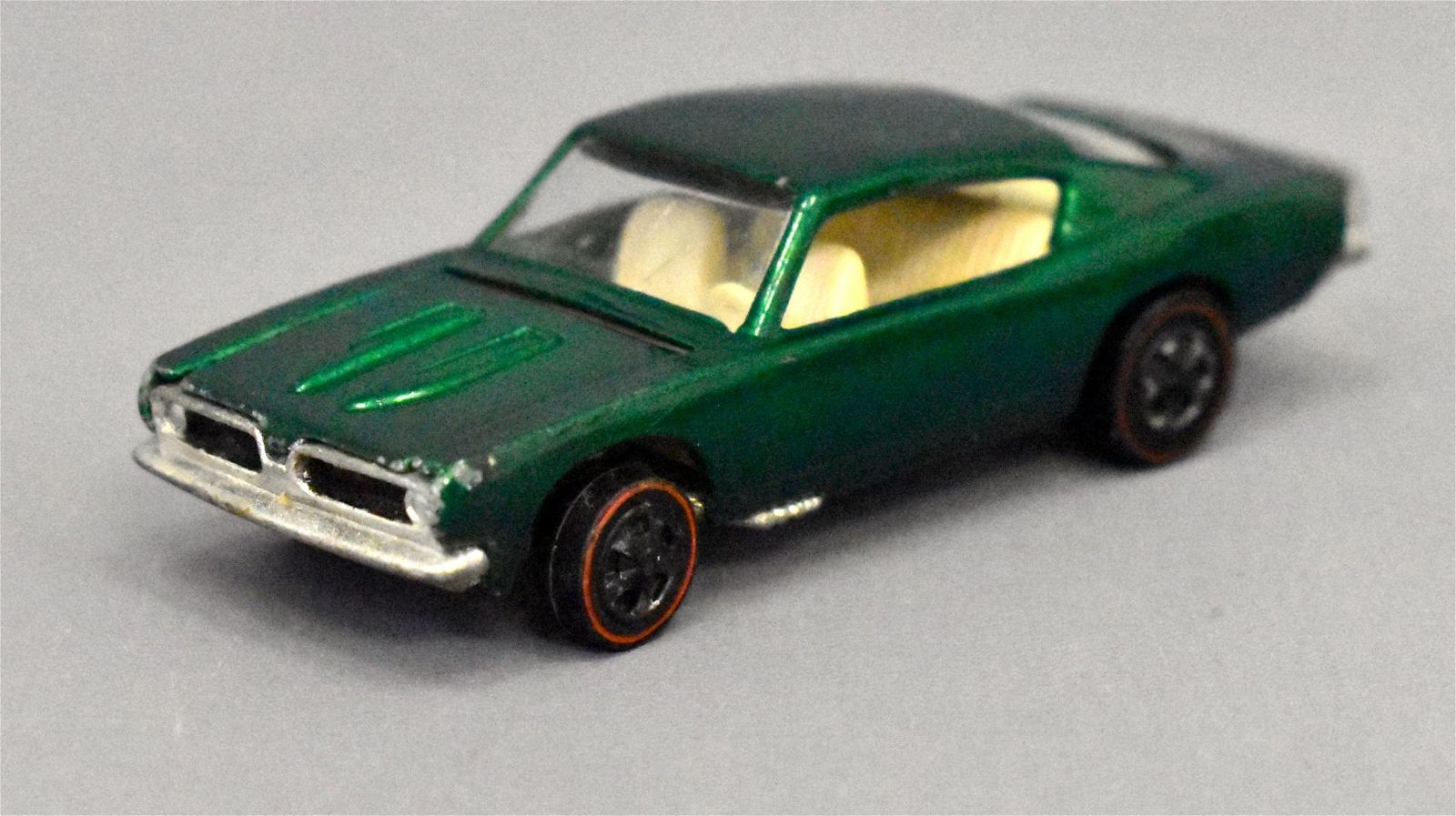 Mattel Redline Hot Wheels HK Green Custom Barracuda