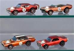 Group of four Mattel Redline Hot Wheels Spoilers