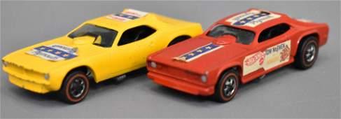 Group of two Mattel Redline Hot Wheels Snake and