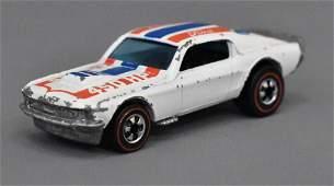 Mattel Redline Hot Wheels Enamel White Mustang Stocker
