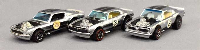 Group of three Mattel Redline Hot Wheels Chrome Club