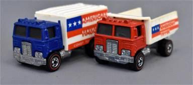 Group of two Mattel Redline Hot Wheels Highway Haulers