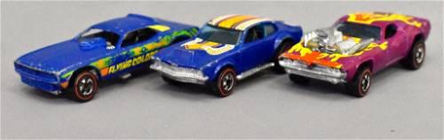 Group of three Mattel Redline Hot Wheels Flying Colors