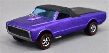 Mattel Redline Hot Wheels Early Painted Tail Purple