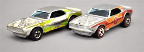 Group of two Mattel Redline Hot Wheels Chrome Heavy
