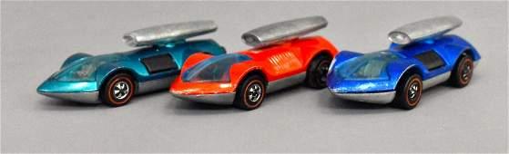 Group of three Mattel Redline Hot Wheels Tri Babys