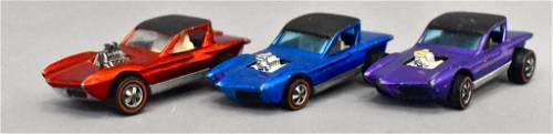 Group of three Mattel Redline Hot Wheels Pythons
