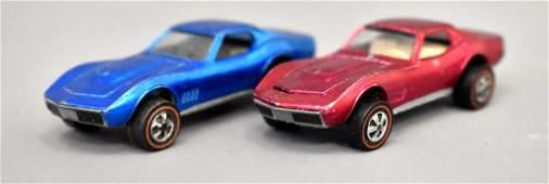 Group of two Mattel Redline Hot Wheels US Custom