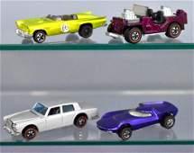 Group of four Mattel Redline Hot Wheels