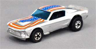 Mattel Hot Wheels Blackwall Chrome Mustang Stocker