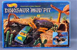 Mattel Hot Wheels Dinosaur Mud Pit Set Factory Sealed