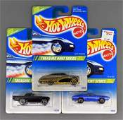 Group of three Mattel Hot Wheels 1995 Treasure Hunt