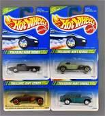 Group of four Mattel Hot Wheels 1995 Treasure Hunt