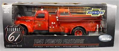 Highway 61 1/16 die cast 1941 Chevy fire pumper truck