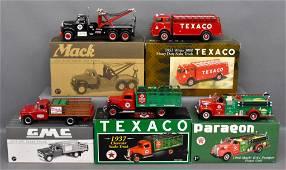 Five First Gear 1/34 Texaco die cast trucks in original