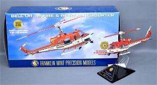Franklin Mint Bell UH-1B fire rescue copter in original