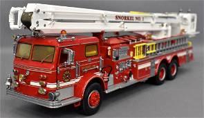 Franklin Mint 1/32 Pierce Snorkel fire engine in