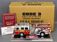 Code 3 FDNY Squad 61 1/32 die cast 12988 in original