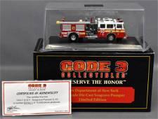 Code 3 1/64 die cast FDNY Engine 10 Seagrave pumper w/