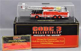 Code 3 1/64 die cast Chicago Fire Dept E-One Platform