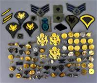 Large lot post WWII US military uniform patches rank