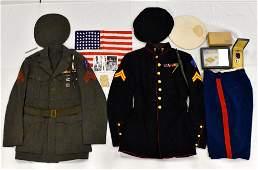 WWII Marine Corps USMC uniform medals group Alvin