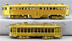 Two vintage HO scale brass traction cars McKeen