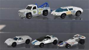 Group of five filler condition Redline Hot Wheels white