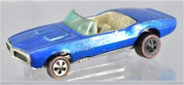 Redline Hot Wheels blue custom Firebird HK