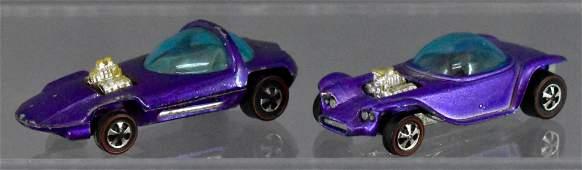 Redline Hot Wheels purple Beatnik Bandit & Silhouette