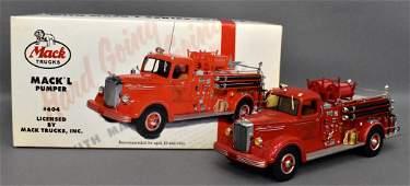 First Gear 1/34 die cast L Mack fire pumper truck in