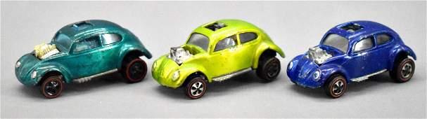 Three Redline Hot Wheels US and HK Custom Volkswagen