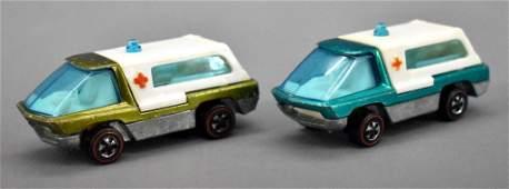 Two Redline Hot Wheels Heavyweights HK Ambulance
