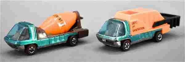 Redline Hot Wheels heavyweights cement mixer and