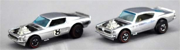 Redline Hot Wheels chrome Club cars King Kuda Boss Hoss