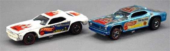 Redline Hot Wheels Snake and Mongoose funny cars