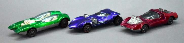 Three US Redline Hot Wheels fantasy car castings NICE
